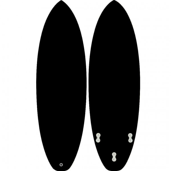 ALISURF SHORTBOARD CARBON BLACK